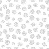 Nahtloses Muster - Garnbälle Stock Abbildung