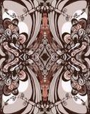 Nahtloses Muster. Gemüse- und zoomorphic decorat vektor abbildung