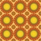 Nahtloses Muster gemacht vom bunten Mosaik, abstrakter dekorativer Hintergrund, Fliesenverzierungsschablone Stockbilder