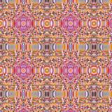 Nahtloses Muster gemacht vom bunten Mosaik, dekorativer Hintergrund Abseract, Fliesenverzierungsschablone Lizenzfreie Stockfotos