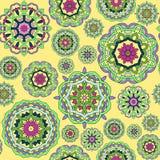 Nahtloses Muster gemacht von den abstrakten Mandalen stock abbildung
