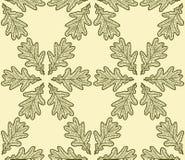 Nahtloses Muster gemacht von den Eichenblättern lizenzfreie abbildung