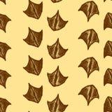 Nahtloses Muster gemacht von den Entenspuren Vektorspuren der Ente vektor abbildung
