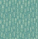 Nahtloses Muster gemacht von den Glühlampen Lizenzfreies Stockfoto