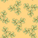 Nahtloses Muster gemacht von den Rosenblättern lizenzfreie abbildung