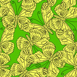Nahtloses Muster gemacht von den Schmetterlingen stock abbildung