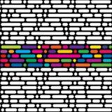 Nahtloses Muster, geometrischer Hintergrund Lizenzfreie Stockfotografie