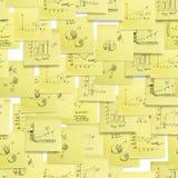 Nahtloses Muster: Geschäft, Finanzierung. Stockbilder