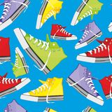 Nahtloses Muster getrennte Schuhe Stockfotografie