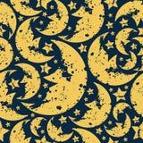 Nahtloses Muster glücklichen Halloween-Mondes vektor abbildung