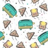 Nahtloses Muster, glücklicher Toast Stockbild