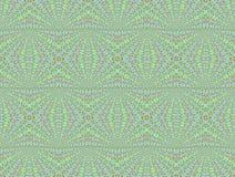 Nahtloses Muster grün-blau lizenzfreie abbildung