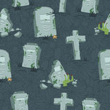 Nahtloses Muster Halloween-Gräber Stockbilder