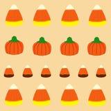 Nahtloses Muster Halloween-Süßigkeit Lizenzfreie Stockbilder