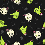Nahtloses Muster Halloween-Zombies Stockfotografie