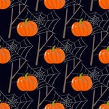 Nahtloses Muster Halloweens Stockfoto