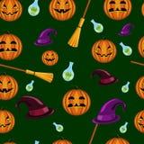 Nahtloses Muster Halloweens Stockfotografie