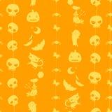 Nahtloses Muster Halloweens Lizenzfreies Stockbild