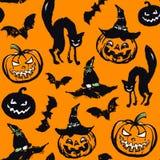 Nahtloses Muster Halloweens Lizenzfreie Stockfotografie