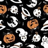 Nahtloses Muster Halloweens Lizenzfreies Stockfoto