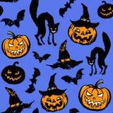 Nahtloses Muster Halloweens Stockfotos