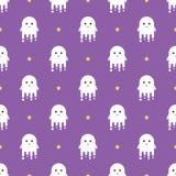 Nahtloses Muster Halloweens der netten Geister Lizenzfreie Stockbilder