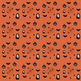 Nahtloses Muster Halloweens Der Tag der Toten, Kürbis, Geist, Lizenzfreie Stockfotografie