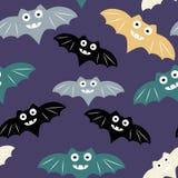 Nahtloses Muster Halloweens mit buntem Schläger stock abbildung