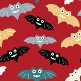 Nahtloses Muster Halloweens mit colorul Schläger Schöner Vektorhintergrund für Dekorationshalloween-Designe lizenzfreie abbildung