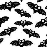 Nahtloses Muster Halloweens mit schwarzem Schläger lizenzfreie abbildung