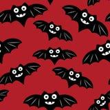 Nahtloses Muster Halloweens mit schwarzem Schläger vektor abbildung