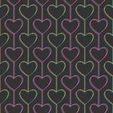 Nahtloses Muster Herzen und Linien geometrisch stock abbildung