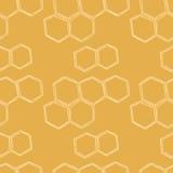 Nahtloses Muster Honey Meadowss Lizenzfreie Stockfotografie