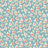 Nahtloses Muster Ich bin der Autor dieser Abbildung Kleine Blumen Lizenzfreies Stockbild