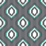 Nahtloses Muster Ikat für Netzentwurf oder Hauptdekor Stockbilder