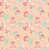 Nahtloses Muster - Kaninchen. stock abbildung