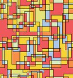Muster backgroumd der Quadrate und der Rechtecke stock abbildung