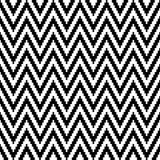 Nahtloses Muster-kleines Pixel Chevron Schwarzweiss lizenzfreie abbildung