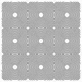 Nahtloses Muster - konzentrische vereinigte Kreise Lizenzfreie Abbildung