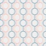 Nahtloses Muster Kreise und Linien geometrisch vektor abbildung