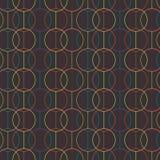 Nahtloses Muster Kreise und Linien geometrisch lizenzfreie abbildung