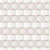 Nahtloses Muster Kreise und Linien geometrisch stock abbildung