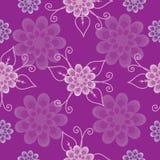 Nahtloses Muster, lila Blumen Stockbild