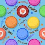 Nahtloses Muster Macaron Stockbild