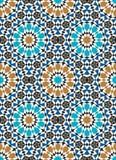 Nahtloses Muster Marokkos stock abbildung