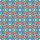 Nahtloses Muster Marokkos Traditioneller arabischer islamischer Hintergrund Lizenzfreies Stockbild