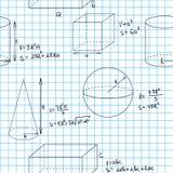 Nahtloses Muster Mathe Stockbilder