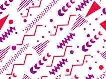 Nahtloses Muster Memphis Geometrische Elemente Memphis im Stil 80 ` s Vektor Lizenzfreies Stockbild