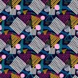 Nahtloses Muster Memphis im Retrostil Lizenzfreie Stockbilder