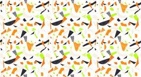 Nahtloses Muster Memphis im Retrostil Kritzeln Sie von Hand gezeichneten Stift des Musters, Tinte, Kreide Stockbilder